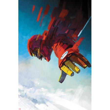 International Iron Man #7 Cover Art Featuring Iron Man, Tony Stark Poster Wall Art By Alex Maleev ()