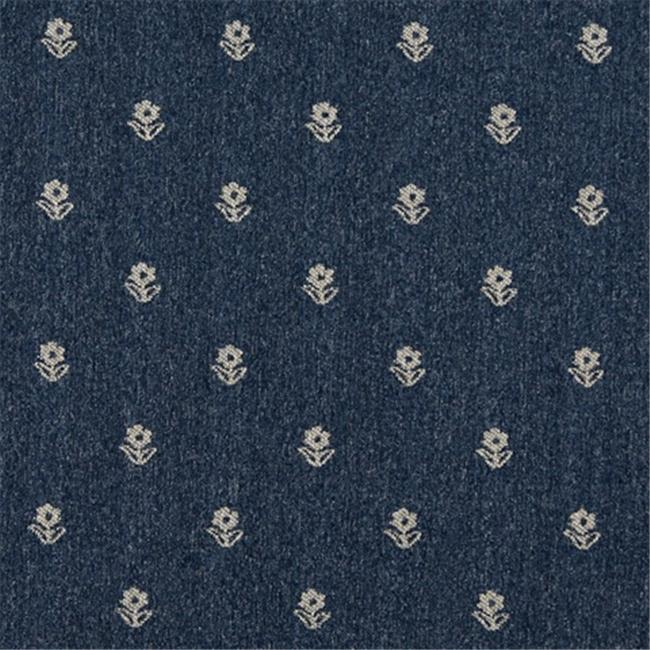 Designer Fabrics C624 54 in. Wide Navy Blue And Beige, Flowers Country Style Upholstery Fabric