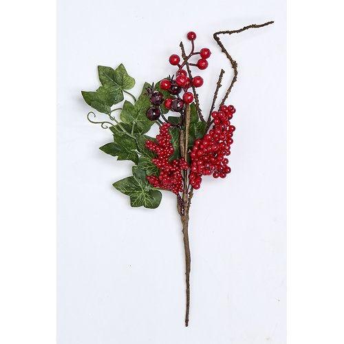 The Holiday Aisle Berry Pick Ivy Branch (Set of 6)