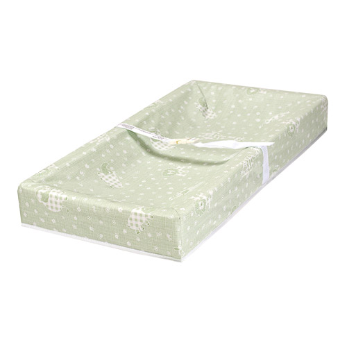 L.A. Baby 4-Sided Square-Corner Changing Pad, Green