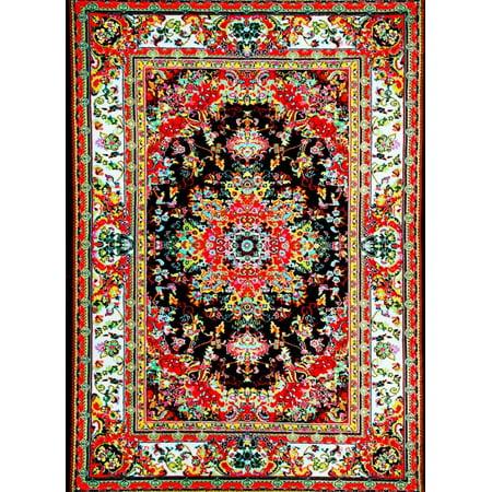 Persian Rugs A100 Black Oriental Area Rug
