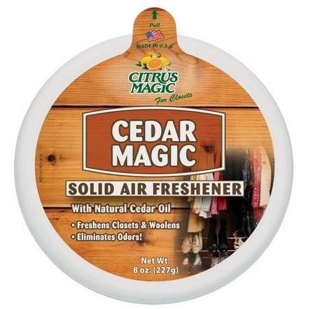 (2 pack) Citrus Magic - Solid Air Freshener Cedar Magic - 2 total - 8 oz.