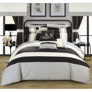 Lorena 24-Piece Complete Bed in a Bag Bedding Comforter Set with Decor Pillows, Window Treatments