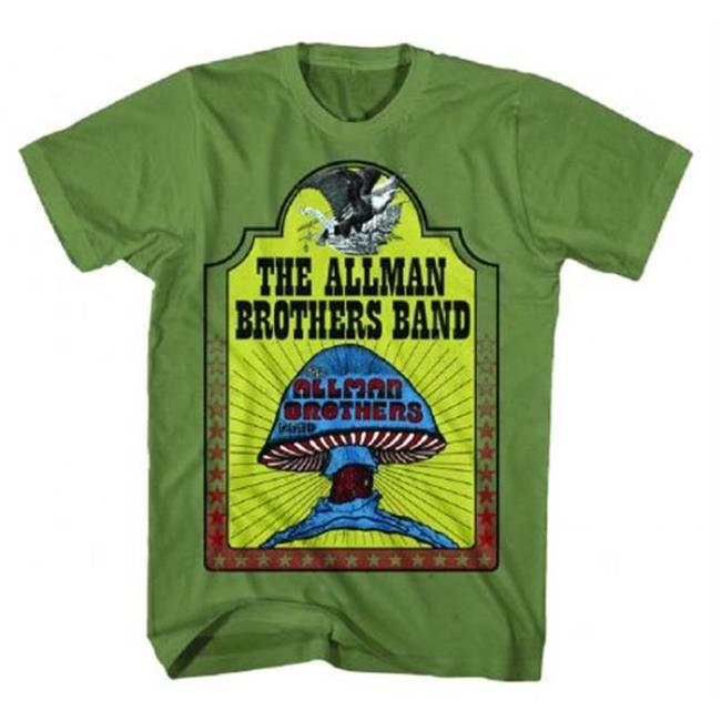FEA FEA-AM178-M Allman Brothers Hell Yeah T-Shirt - Military Green - Medium