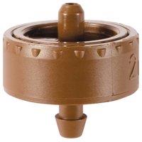 2PK 5 GPH Brown Button Dripper