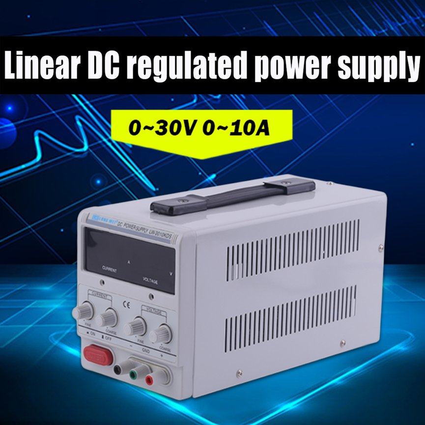 Universal 10A 30V DC Power Supply Adjustable Dual Digital Variable Precision US Plug Overload Short Circuit Protecting