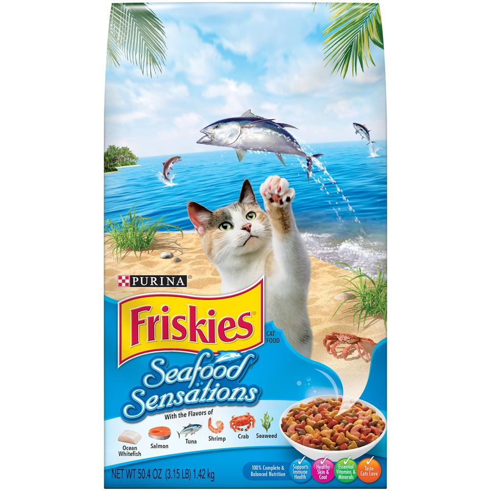 Friskies Seafood Sensations Adult Dry Cat Food, 3.15 lb