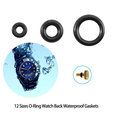 Ymiko 1.4-2.8mm 12 Sizes Rubber Rings Watches Gaskets Tiny Crown-O-Ring Box Set for Waterproof Seal, Seal O-Ring, Waterproof Seal O-Ring