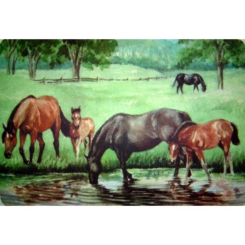 Custom Printed Rugs Horse Pond Doormat