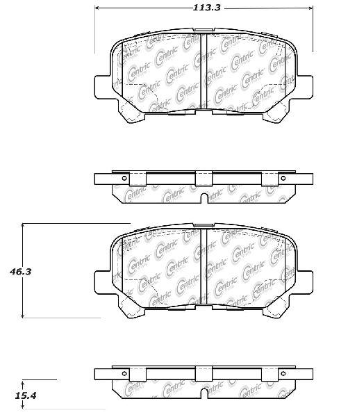 Rides2Racers C-TEK Ceramic Brake Pads 2014-2016 Acura MDX