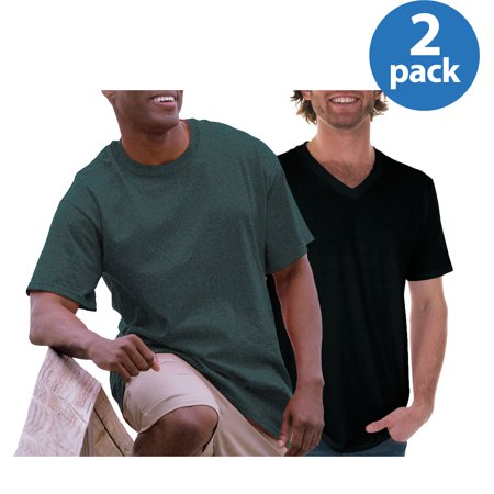 Gildan Mens DryBlend Classic and Fitted V-Neck T-Shirt 2 Pack Bundle, Your choice $7.5