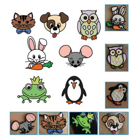 Fyydes Papier de modèle de bricolage, papier de modèle pour les enfants, 20pcs 3D Pen Printing Paper Painting Graffiti Template 40 Cartoon Patterns for Kids DIY - image 4 de 8
