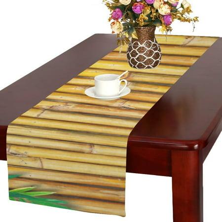 MYPOP Bamboo Cotton Linen Table Runner 16x72