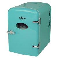 Koolatron 6 Can AC/DC Personal Retro Electric Mini Cooler/Mini Fridge in Green (4.2 Quarts/4 Liters)