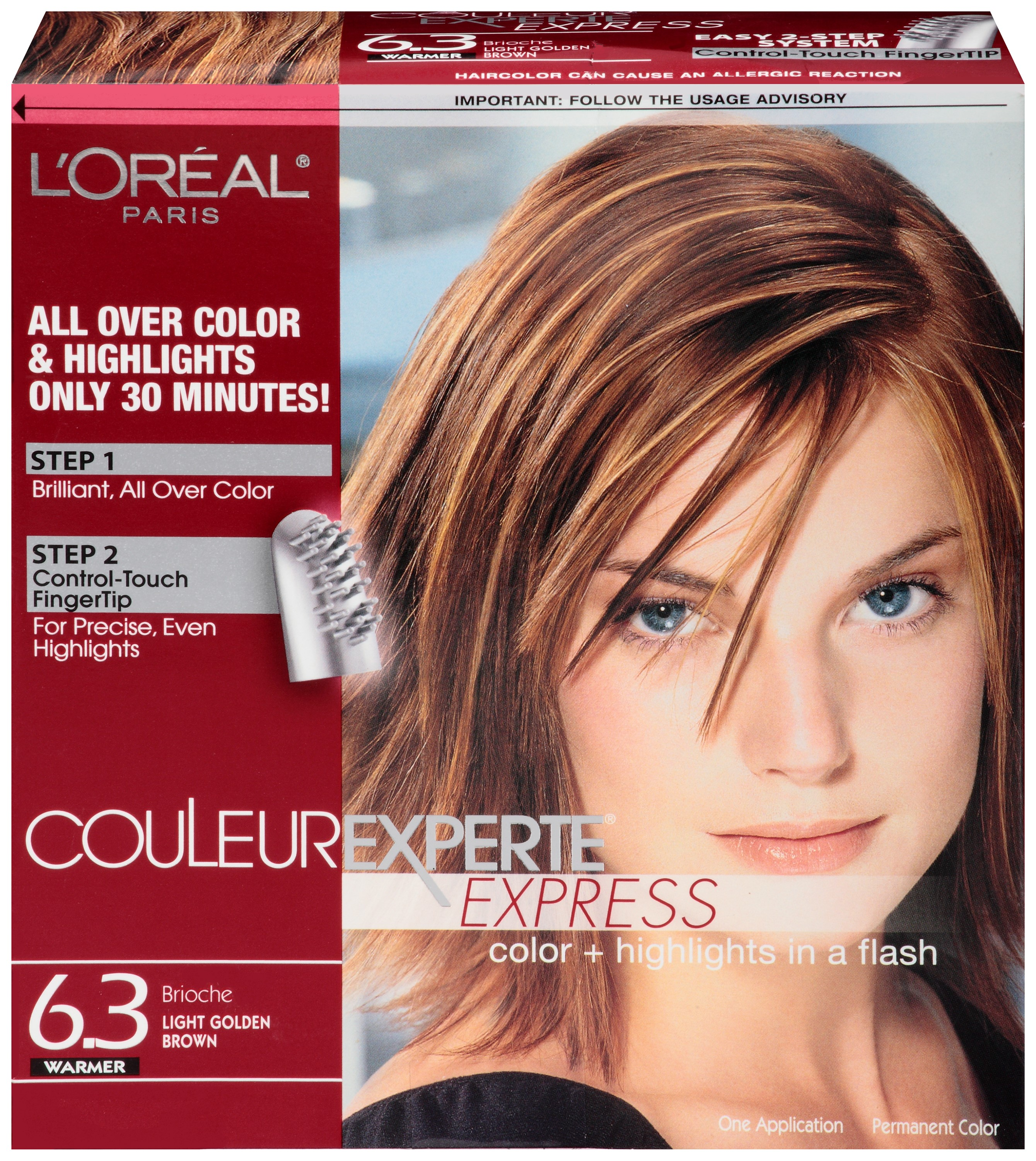 L'Oreal Couleur Experte Hair Color, Light Golden Brown Brioche