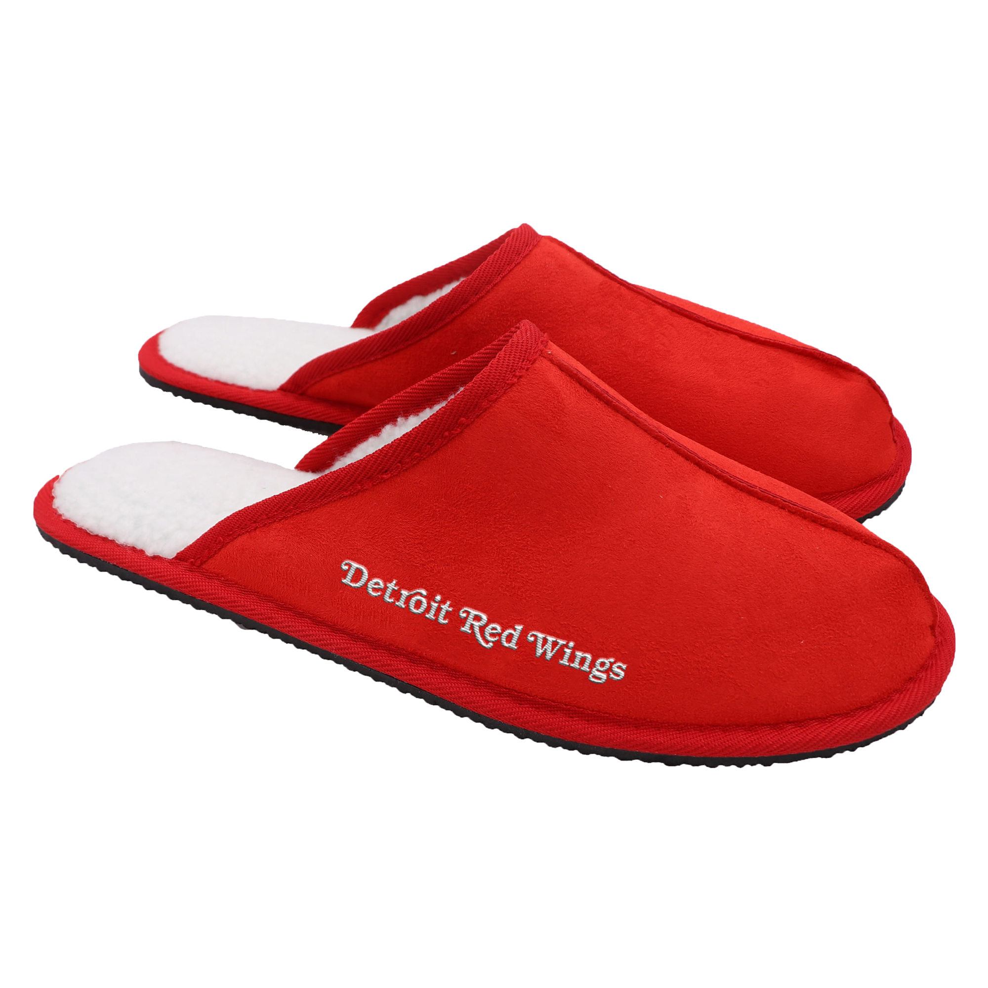 Detroit Red Wings Wordmark Open Back Moccasin Slippers