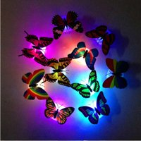 matoen Colorful Changing Butterfly LED Night Light Lamp Home Room Party Desk Wall Decor