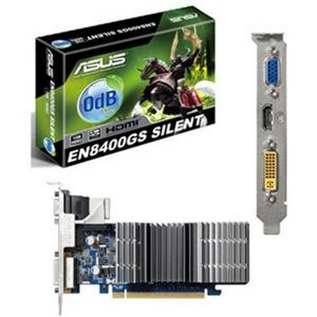 ASUS EN8400GS SILENT/DI/1 ASUS EN8400GS SILENT/DI/1GD2 (LP) Video Card 1GB DDR2 PCIE 2.0 64 -