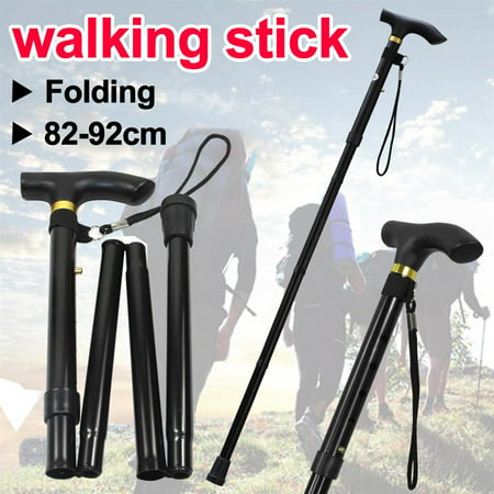 Yaheetech Adjustable Folding Walking Stick Aluminium Easy Light Weight Support Aid Cane