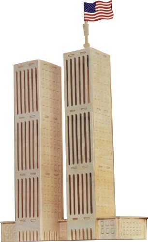 World Trade Center 3d Wooden Puzzle, Ready to be painted or stained By Puzzleventure by