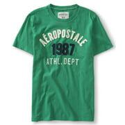 Aeropostale Mens 1987 Athl Dept Embroidered Embellished T-Shirt
