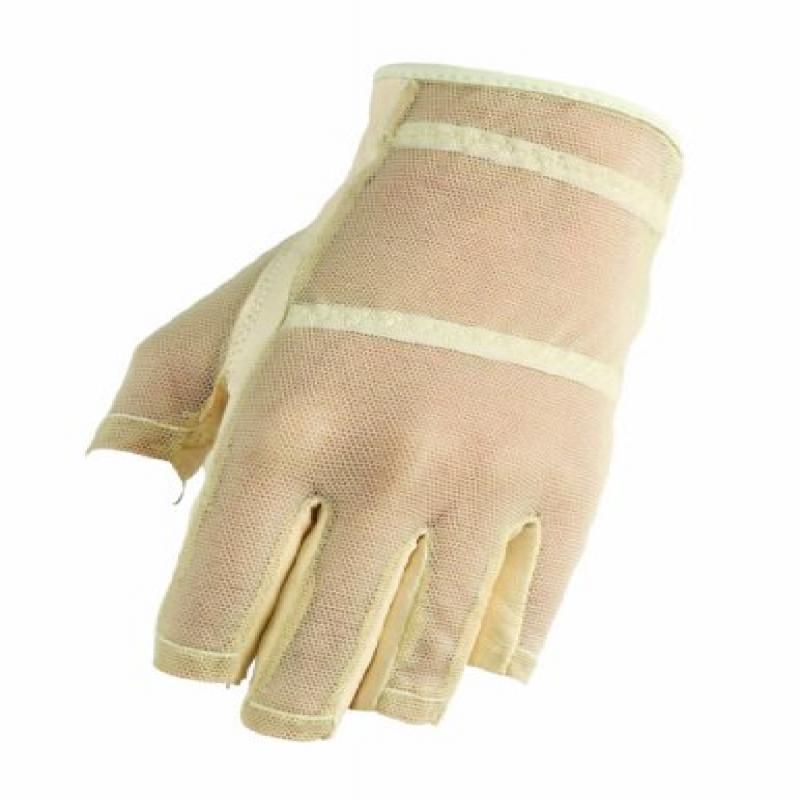 HJ Glove Women's Beige Solaire Half Length Golf Glove, Medium, Left Hand by
