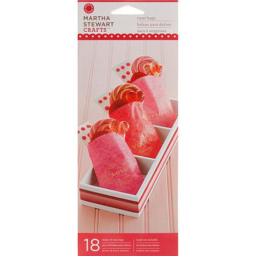 Martha Stewart Treat Bags, 18/pkg, Valentine, Wax