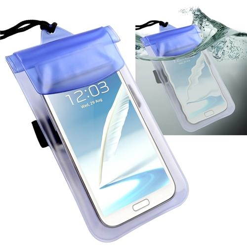 Insten Blue Waterproof Pouch Dry Bag Case For Samsung Galaxy Note 5 4 3 S7 S6 S5 S4 S3 On5 On7 / iPhone 7 6 5S 5C 5 iPod Touch 6th 5th Gen / Alcatel Fierce 2 One Touch Pixi 3 / HTC Desire 530 626 830