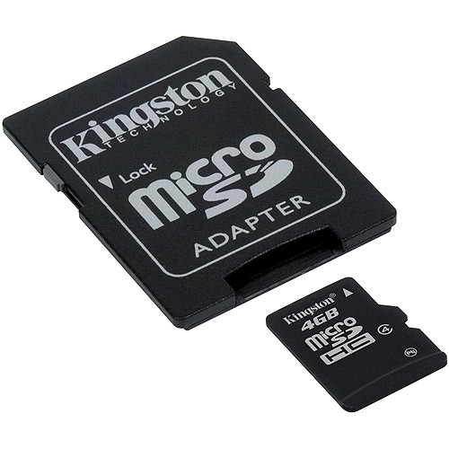 Kingston 4GB microSDHC Class 4 Flash Card