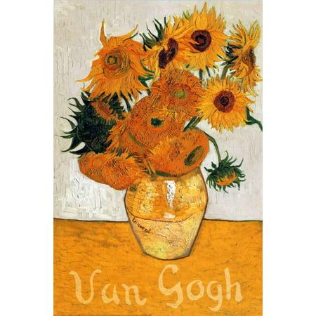 Les Tournesols Poster By Vincent van Gogh - 24x36