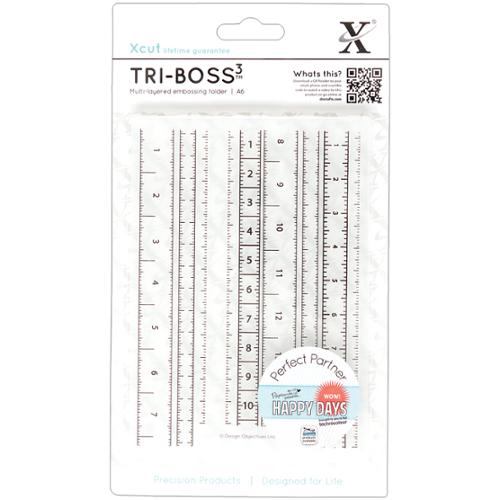 Xcut Universal A6 Embossing Folder-Measuring Tape