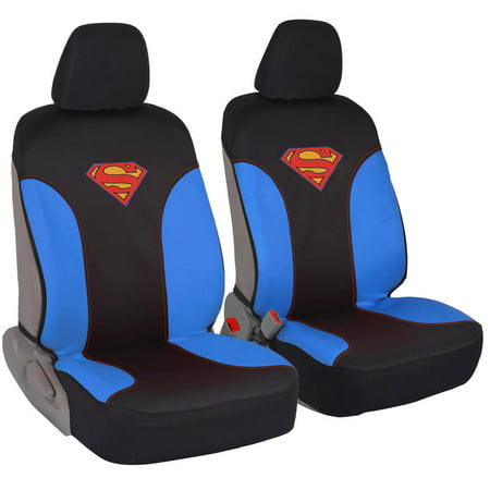 Superman Car Seat Covers for Front Pair - Waterproof, Side Airebag Compatible for $<!---->