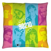 Beverly Hills 90210 Color Blocks Throw Pillow White 18X18