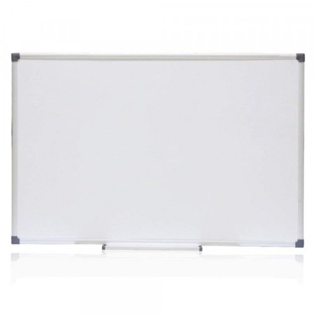 VIZ-PRO Cat-eye Magnetic Whiteboard / Dry Erase Board, 48 X 36 Inches, Silver Aluminium Frame (Wired Whiteboard)