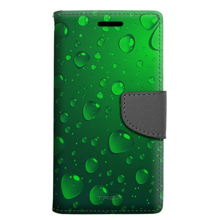 premium selection 91736 32b4d Samsung Galaxy J3 Emerge Wallet Case - Green Water Drops Case