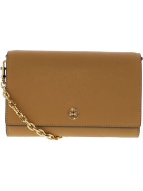 3764d1daa Product Image Tory Burch Women's Robinson Chain Leather Wallet - Cardamom /  Royal Navy