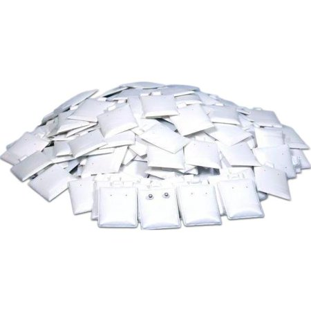 200 Earring Puff Display Pads White Stud Post (Post Earring Holder)