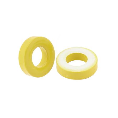 10 Pcs 18mm x 9mm x 5mm Yellow White Iron Core Power Inductor Ferrite Ring - image 1 de 2
