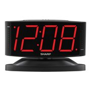 Sharp Alarm Clock with Jumbo Display and Swivel Case in Black SPC033A