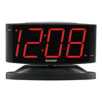 Sharp Alarm Clock with Jumbo Display and Swivel Case in Black SPC033A