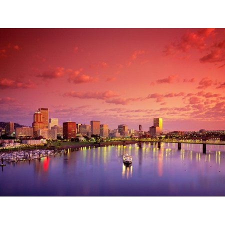 The Portland Spirit on the Willamette River at Sunrise in Portland, Oregon, USA Print Wall Art By Janis Miglavs](Halloween Stores In Portland Oregon)