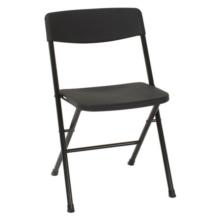- Cosco Resin 4-Pack Folding Chair with Molded Seat and Back, Black