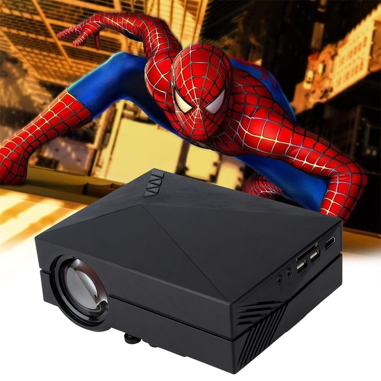 2017 On Sale Home Theater Projector 5000 Lumens HD LED Video Projector Home Cinema 3D Effect 1080P-HDMI... by LESHP