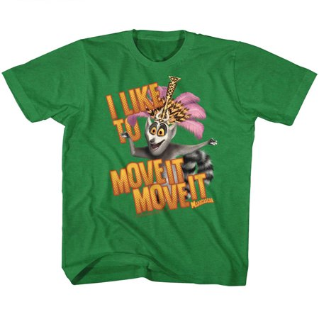 Madagascar Children's Movie Mov Ite Move It Kelly Heather Youth Big Boys T-Shirt Tee - image 1 de 1