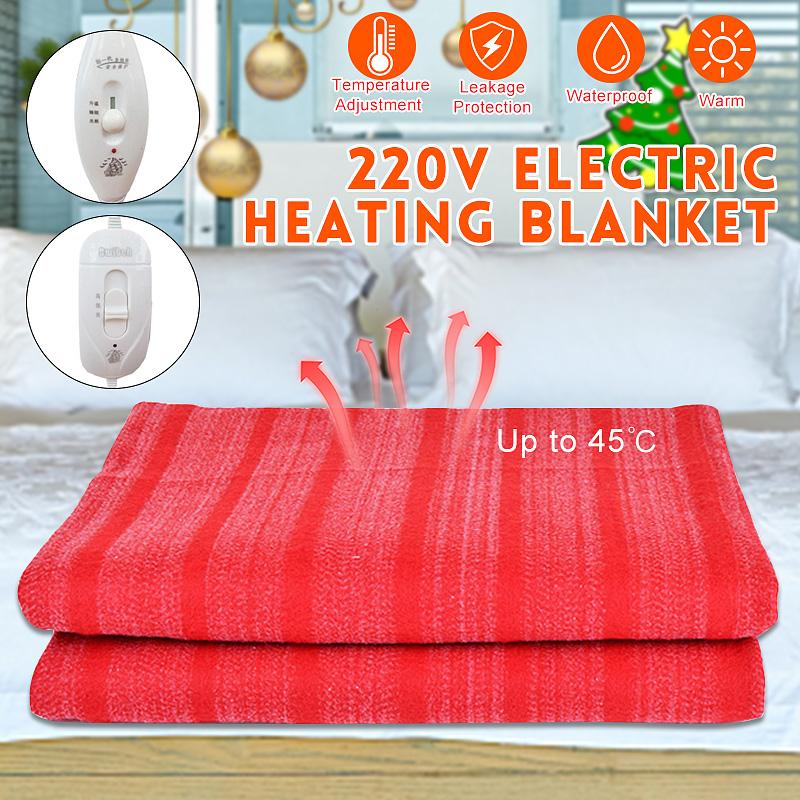 Electric Heated Throw Over Under Blanket Flannel Warm Mattress 3 Heat Set 220V
