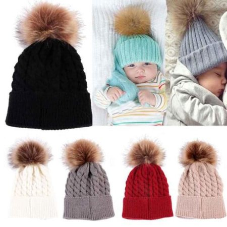 CHRONSTYLE - Fashion WOMEN Winter Warm Hat Toddler Kids Lovely Knitted Crochet  Beanie Hat Baby Girls Boys Wool Cap - Walmart.com 25d49e073