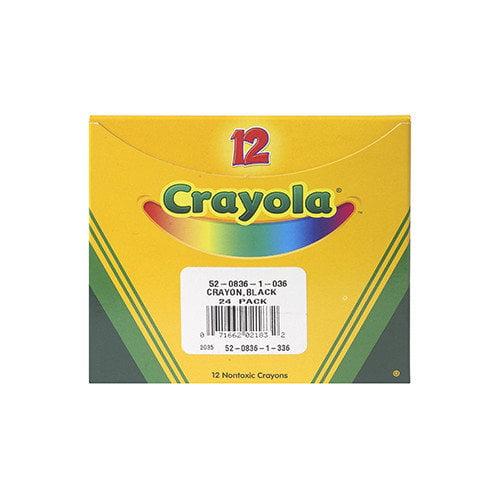 Crayola LLC Crayola Bulk Crayon Regular - Black (Set of 3)