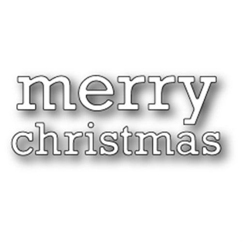 Memory Box MBP1335  Poppystamp Die-Proper Merry Christmas
