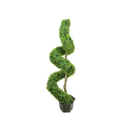 "56"" Potted deux tons artificiels Boxwood Spirale Topiary Arbre - image 1 de 1"