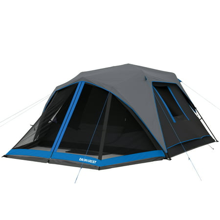 Ozark Trail 6-Person Instant Dark Rest Cabin Tent with LED Lighted Poles ()